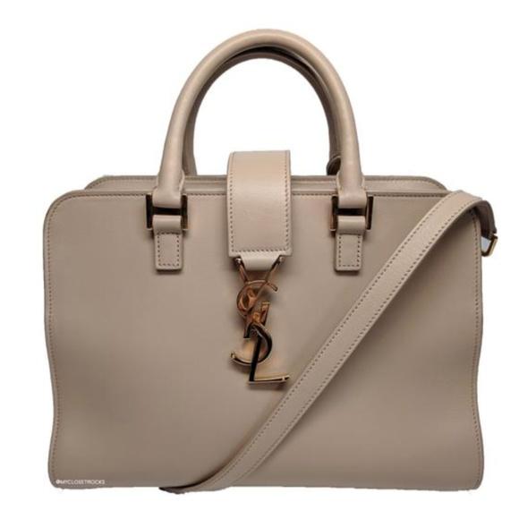 Saint Laurent Handbags - Saint Laurent Beige Baby Cabas Bag